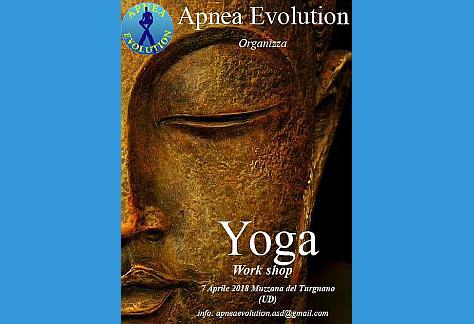 Locandina workshop yoga Apnea Evolution