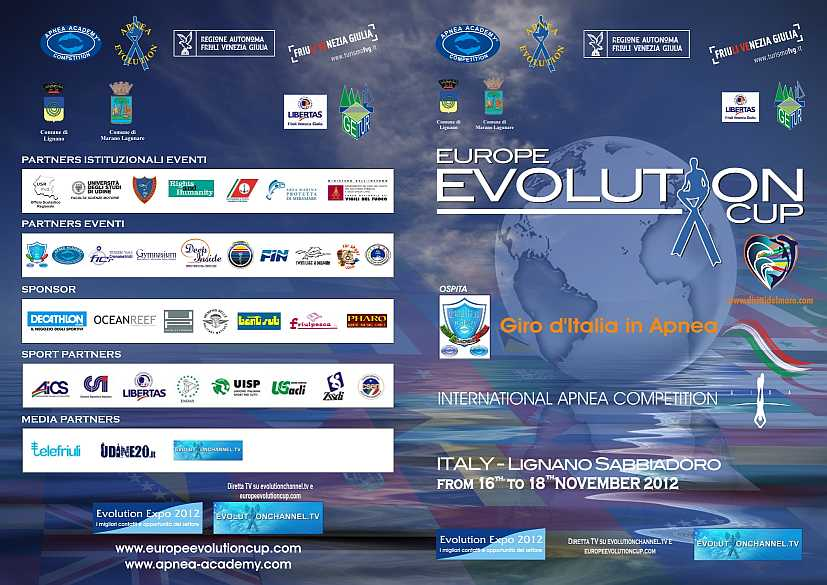 Locandina Europe Evolution Cup 2012