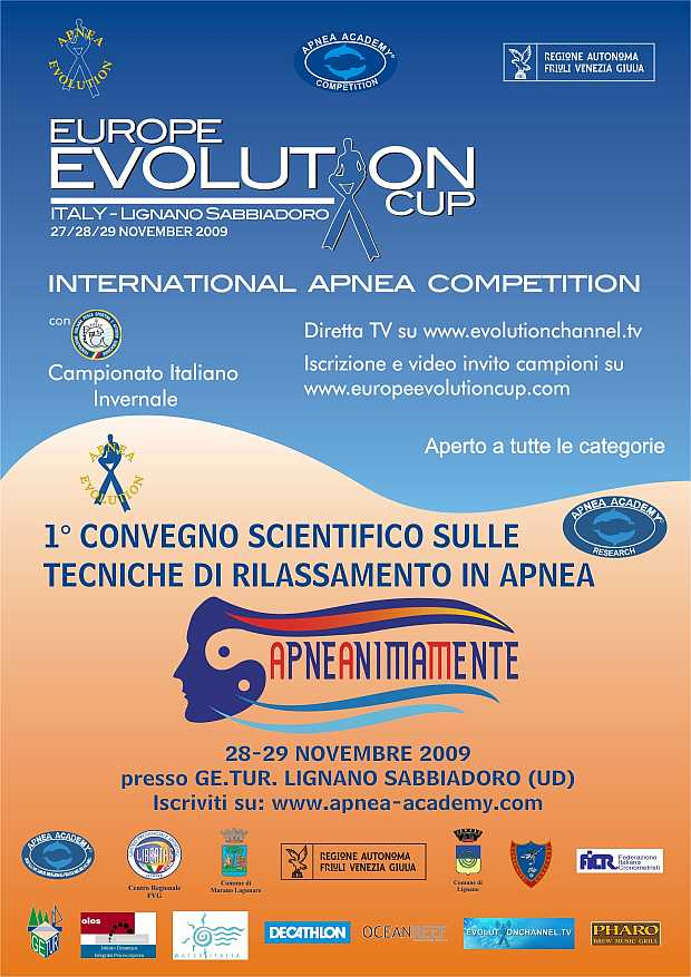 Locandina Europe Evolution Cup 2009
